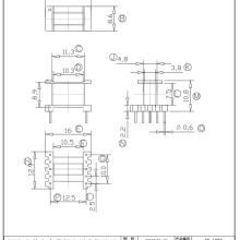 EE13变压器骨架 EE13变压器骨架/高频变压器骨