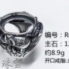 泰银复古戒指空托活口图片