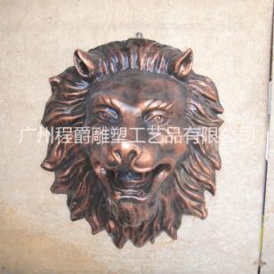 玻璃钢狮子头浮雕图片