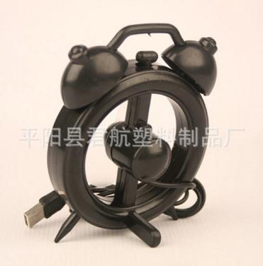 厂家直销 USB闹钟创意小风扇 个生闹钟风扇 迷你小风扇