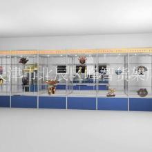 天津货架精品钛合金展示柜钛合金工艺品展示柜尺寸定做钛合金展柜价格