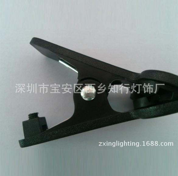 厂家供应ABS塑料台灯夹子 小号创意台灯夹子 LED灯头软管夹子