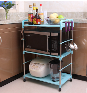 厂家直销 多用途置物架 浴室厨房置物架 不锈钢微波炉置物架