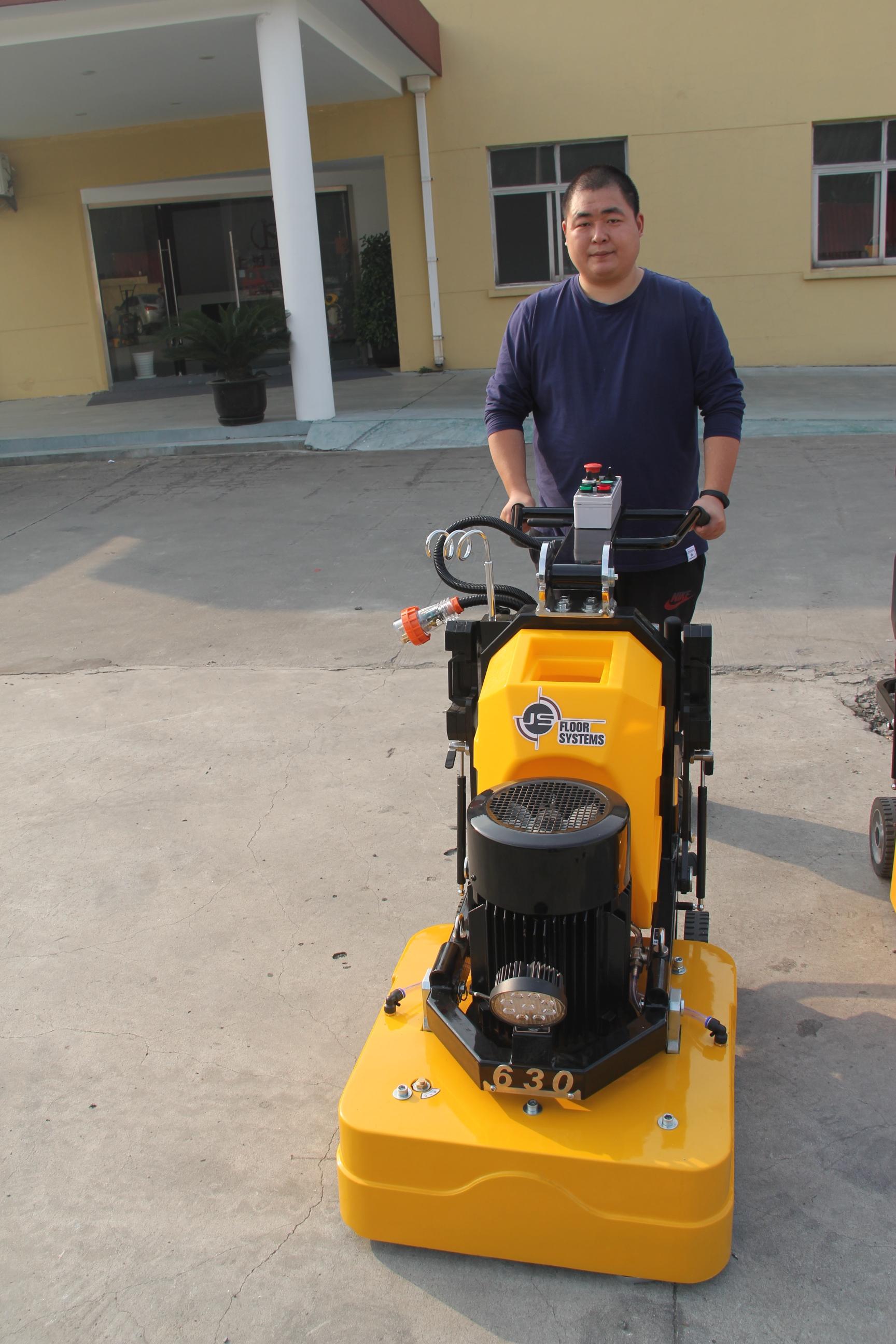 固化地坪研磨机 12头打磨机 鉴崧研磨机 地坪抛光机JS630