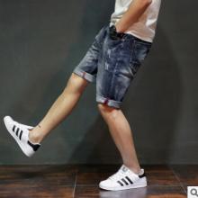 2017夏季款男式牛仔短裤 男式牛仔短裤五分裤 男式牛仔短裤批发图片