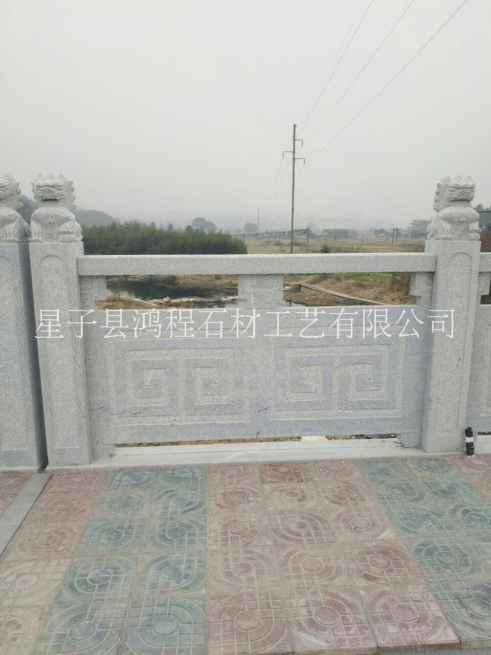 石雕栏杆案例4 桥梁栏杆河道栏杆报价