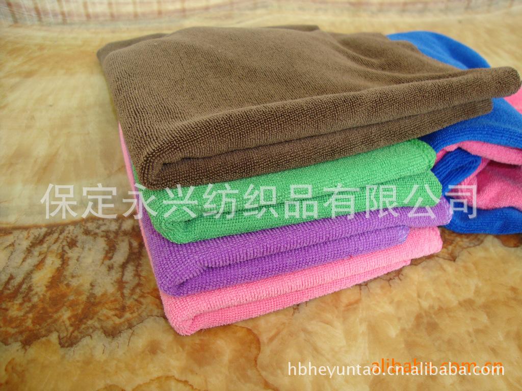 供应强力吸水 柔软多色 超细纤维干发毛巾 擦车巾 批发