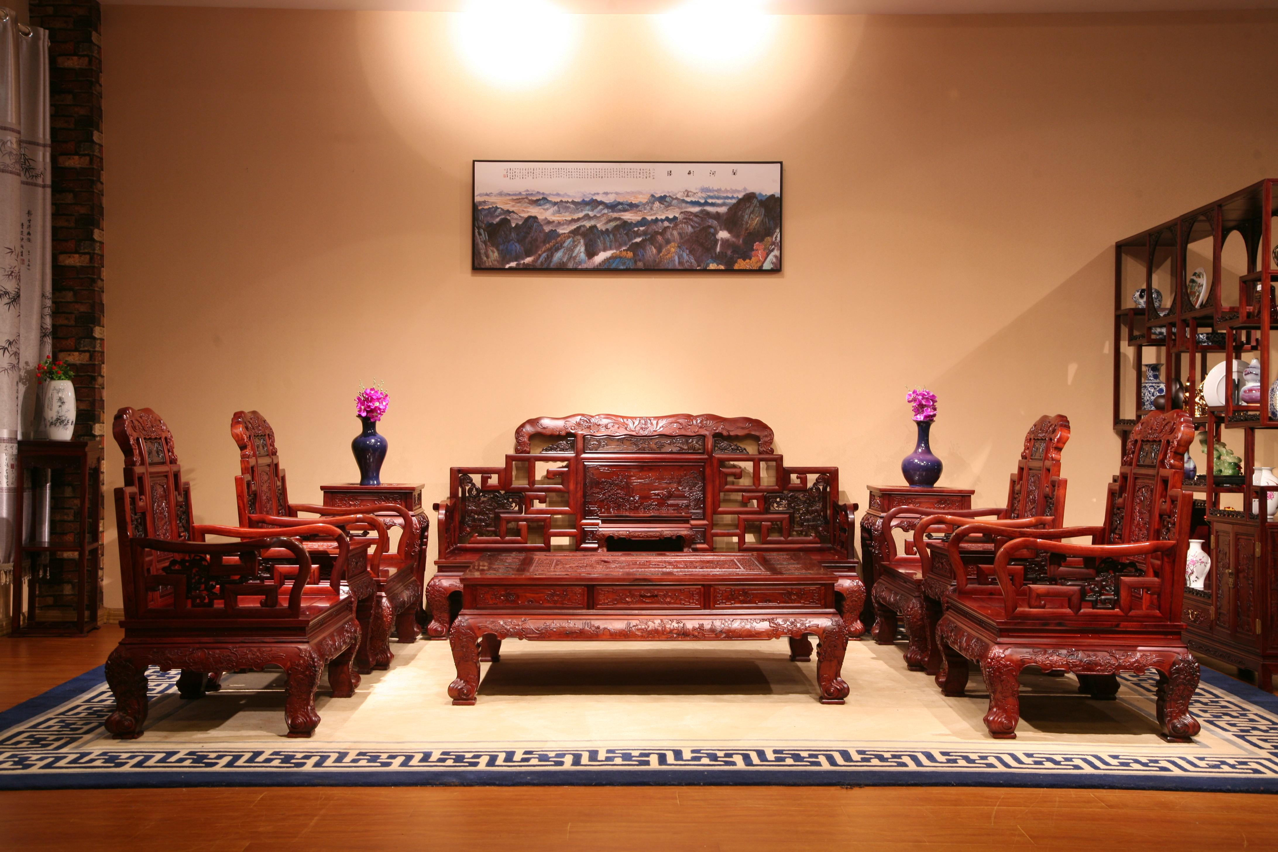 东阳和谐厂家直销红木沙发组合古典沙发组合红木家具实木家具红木沙发组合 红酸枝沙发