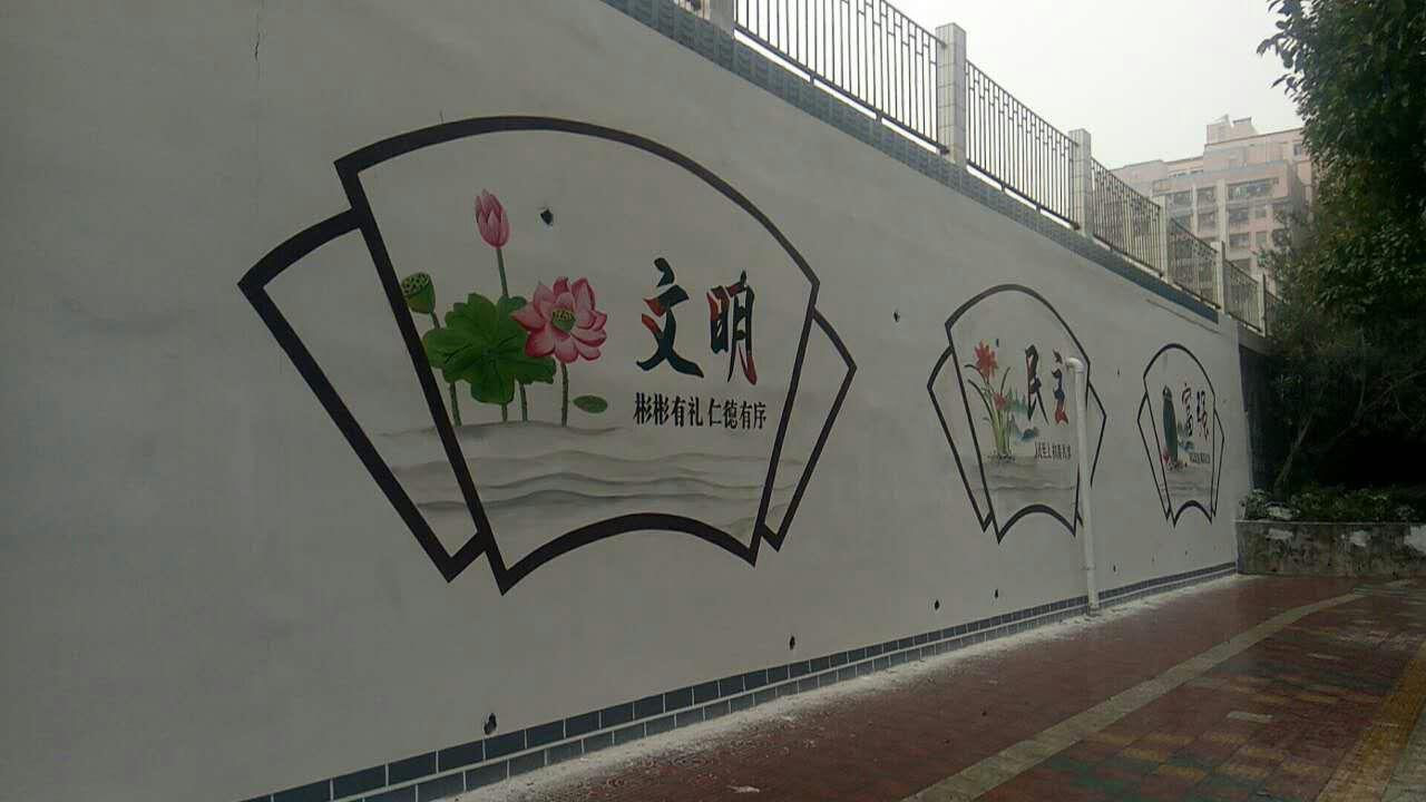 云浮墙绘 云浮墙绘、酒店壁画、手绘3D壁画