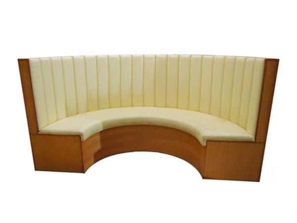 软包板式半圆弧形餐厅卡座沙发 餐厅卡座沙发-卡座沙发定做厂家
