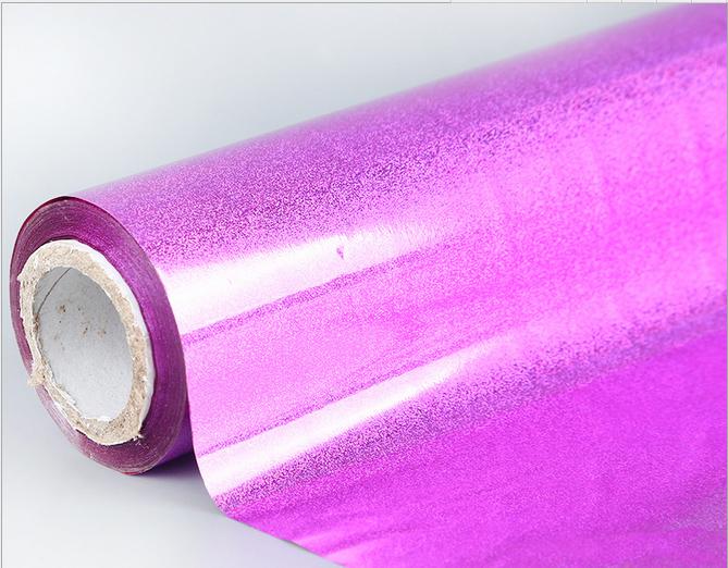 厂家定制批发 粉红流沙电化铝 镭射烫金纸洗铝烫金纸电化铝