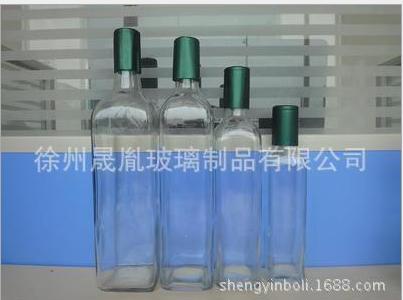 食品级玻璃瓶油瓶方形透明橄榄油瓶山茶油瓶厂家批发