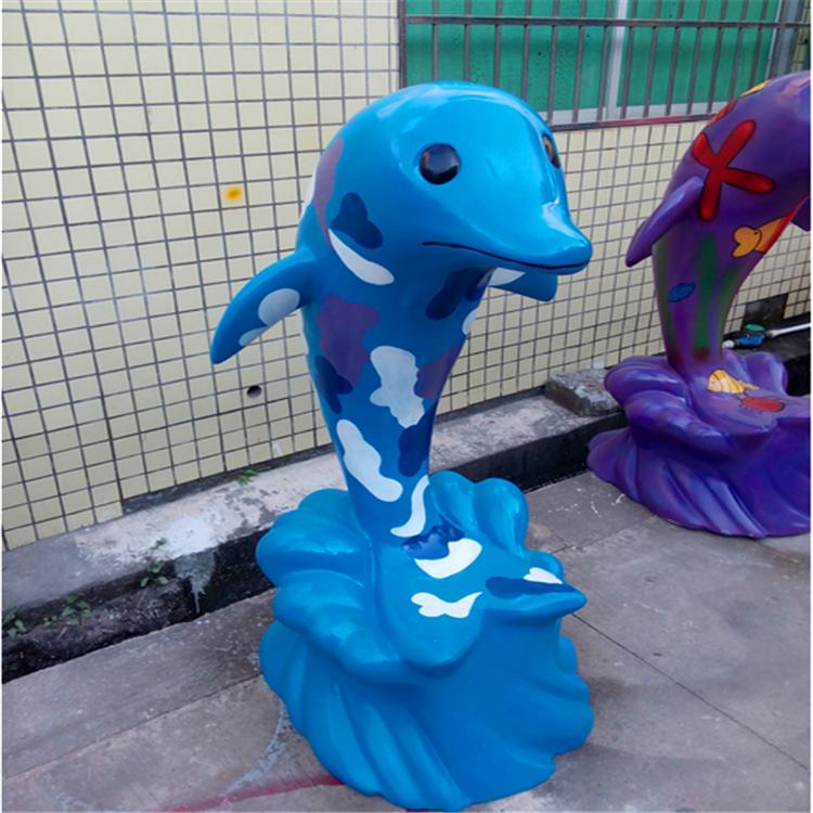供应海豚雕塑 可定制仿生动物雕塑  玻璃钢动物雕塑