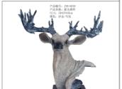 现代家居创意饰品鹿头摆件工艺礼品壁挂树脂仿真鹿头雕塑挂件 工艺品雕塑摆件
