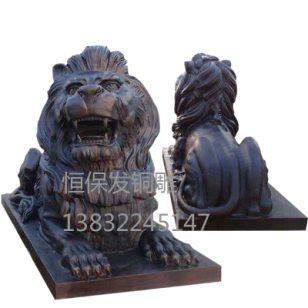 汇丰铜狮子图片