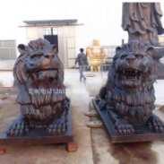 铜雕狮子图片