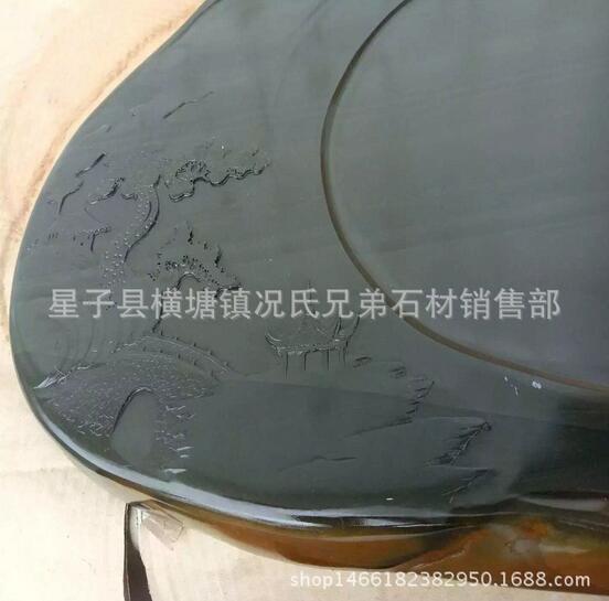 石雕茶盘纯手工制作石雕茶盘新款天然歙砚石雕茶盘批发