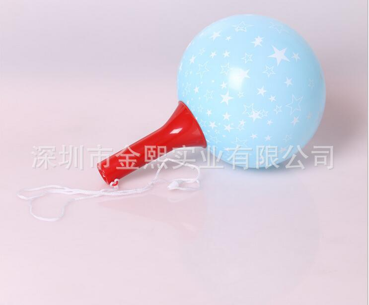 气球玩具儿童玩具 环保塑胶摇摇球  可印图案 自动闭气 晃动发声