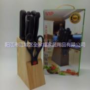 厨房八件礼品套刀 带木座图片