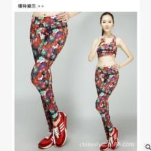 17年欧美数码印花 跑步 瑜伽 休闲 户外运动裤 吸湿排汗 一件代发 数码印花户外运动裤