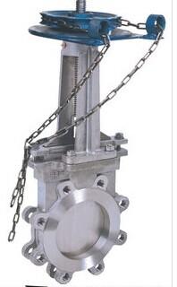 ZL73X链轮对夹式刀型闸阀 尼必可流体
