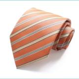 条纹涤丝领带男士宽款10cm工厂直销批发职业正装可来件定制