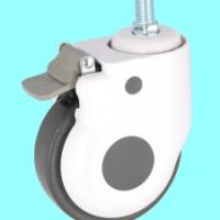 五寸美式医疗设备轮  静音包罩轮  医用器械轮 万向轮