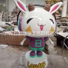 广州厂家专业定做玻璃钢卡通公仔雕塑百事通创意卡通造型公司展厅装饰品图片
