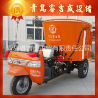 牛羊养殖专用 25马力新款TMR三轮搅拌撒料车