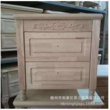 简欧白坯床头柜 橡木床边柜 没上油漆的床头柜 白茬厂家直销