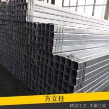 高速护栏配套设施热镀锌/喷塑方立柱交通护栏板热镀锌防腐钢立柱图片