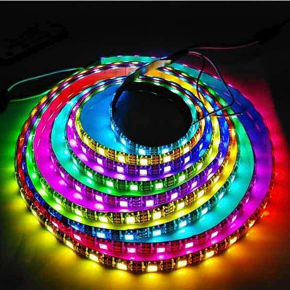 LED灯带 灯条 LED防水低压12V  全彩灯带 厂家直供  LED灯带 灯条 防水全彩灯带