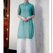 唐装 中国风棉麻女装真丝连衣裙图片