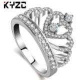 时尚银饰指环 欧美创意手饰批发 外贸爆款皇冠戒指女 白铜饰品