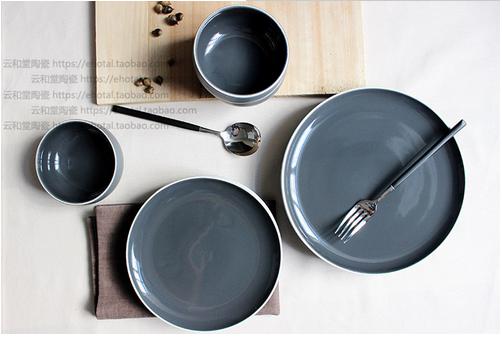 西餐具盘碗碟套装 西式白线条ZEROKY-CLAN牛排盘甜品盘西餐具盘碗碟套装供货商