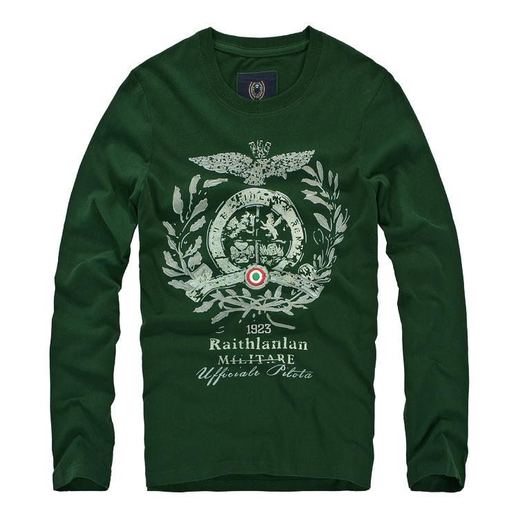 意大利空军一号长袖T恤加工定做销售