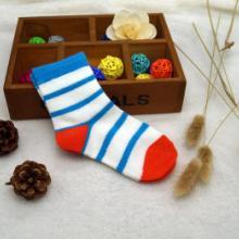 广东省羊毛儿童袜厂家直销秋冬条纹羊毛儿童袜 儿童羊毛袜子 优质袜图片