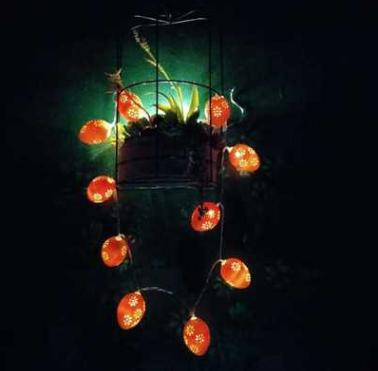 鸡蛋灯串厂家直销LED电池盒仿真鸡蛋装饰灯串灯串 鸡蛋灯串