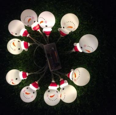 圣诞七彩灯厂家直销LED电池盒圣诞造型节日装饰灯串 圣诞七彩灯串