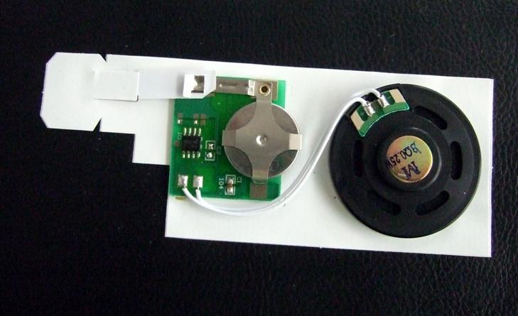厂家供应各种贺卡音乐机芯、语音机芯 各种贺卡音乐芯片、语音芯片