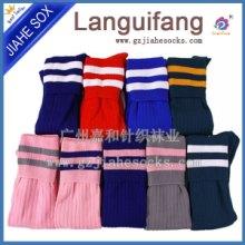 广州足球袜 双针条纹足球袜 长筒袜 尼龙袜 锦纶足球袜 足球袜厂