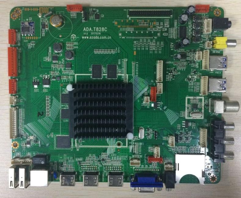 安卓安 Mstar 828方案4K电视主板安卓四核智能网络液晶电视驱动主板方案公司