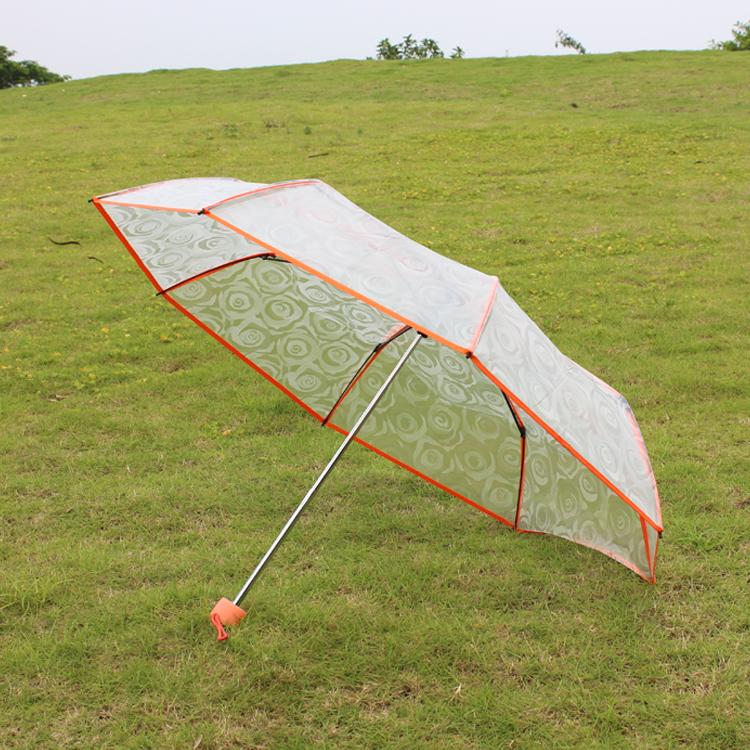 深圳塑胶伞面三折伞批发 透明伞定制LOGO 广告伞价格 礼品伞厂