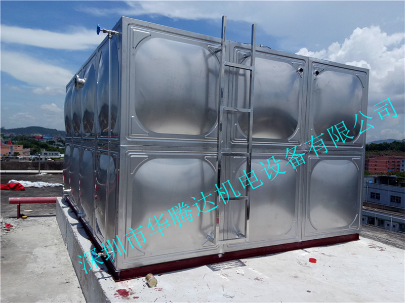 热销组合式不锈钢水箱、惠州水箱厂定制安装 不锈钢消防水箱