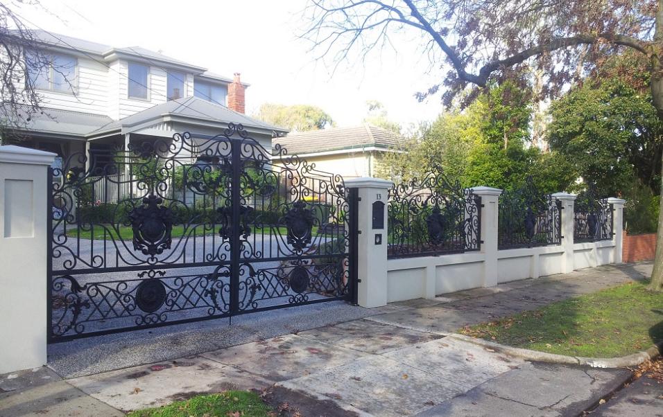 铁艺外围墙栏杆护栏 欧式热镀锌锻造铁艺外围墙栏杆护栏 热镀锌锻造