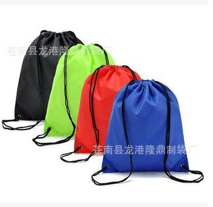 定制涤纶束口袋 尼龙210D环保抽绳袋定做 订制拉绳束口背包订做