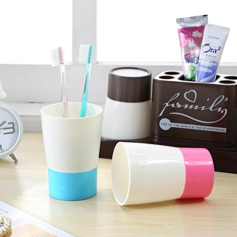 厂家直销内含2个杯子 家居日用塑料水杯 刷牙杯套装 漱口杯套装