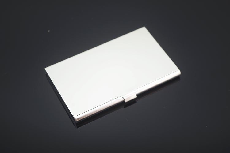 男女士商务创意不锈钢金属超薄名片盒礼品可定制logo