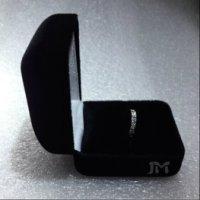 戒指盒小吊坠盒绒盒铁盒 黑色PU皮戒指盒珠宝首饰包装盒子