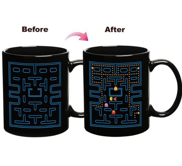 陶瓷变色杯 水转印新款时尚魔术陶瓷马克杯子 创意礼品杯 定制